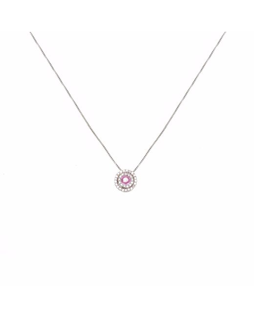 Ri Noor | Multicolor Diamond & Pink Sapphire Circle Pendant Necklace | Lyst