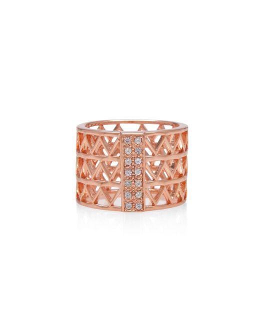 Alexandra Alberta | Pink Guggenheim Studded Ring | Lyst