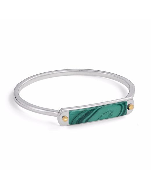 LMJ - Green Malachite Small Id Cuff Bracelet for Men - Lyst
