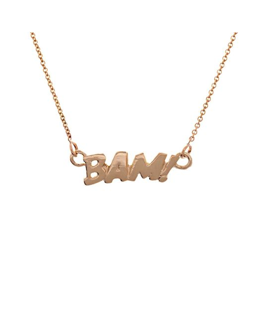 Edge Only - Metallic Bam Necklace In Gold - Lyst