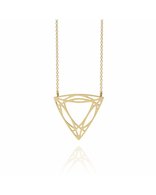 Myia Bonner | Metallic Gold Trillion Diamond Necklace | Lyst