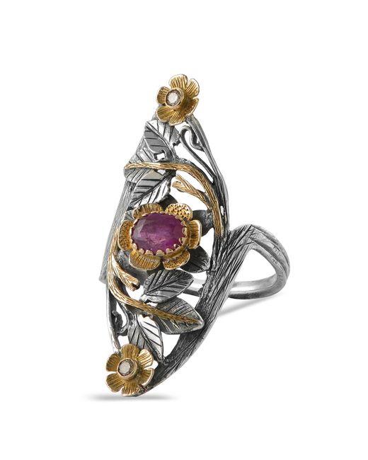 Emma Chapman Jewels Red Siren Ruby Diamond Ring