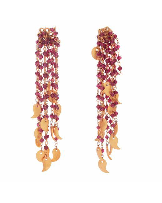 Carousel Jewels - Red Garnet Waterfall Earrings - Lyst