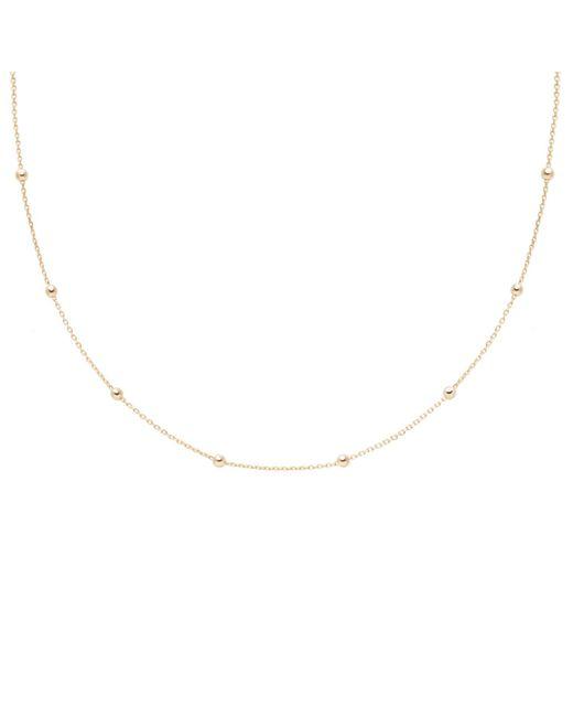 Astrid & Miyu - Metallic Basic Large Beaded Choker In Gold - Lyst