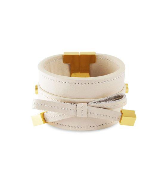 Tissuville - Multicolor Bow & Cube Almond Latte Bracelet Gold - Lyst