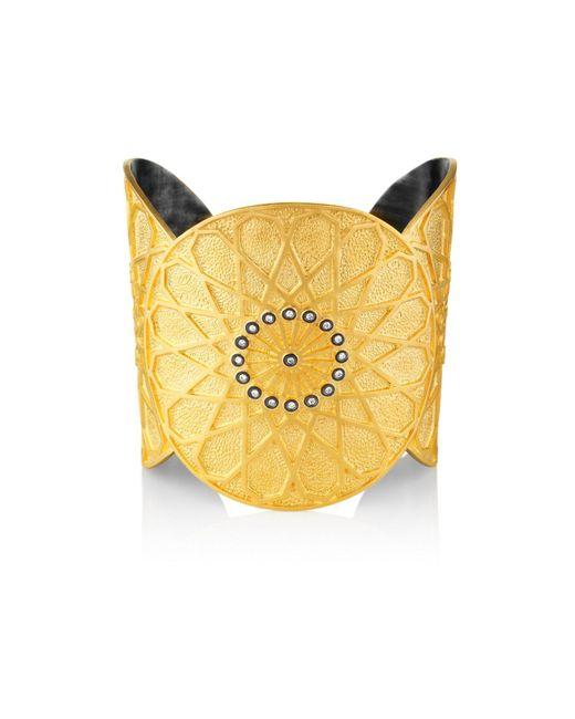 Senin - Metallic Sultanate Cuff Bracelet - Lyst