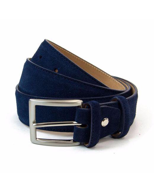 40 Colori - Blue Navy Trento Leather Belt for Men - Lyst