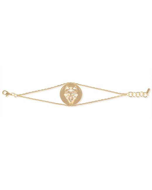 Alexa K | Metallic Wolf Disc Bracelet Gold | Lyst