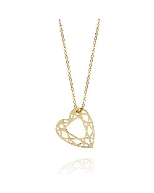 Myia Bonner   Metallic Gold Small Heart Diamond Necklace   Lyst