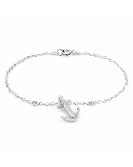 Anchor & Crew | Metallic Drop Anchor Buoy Silver Bracelet | Lyst