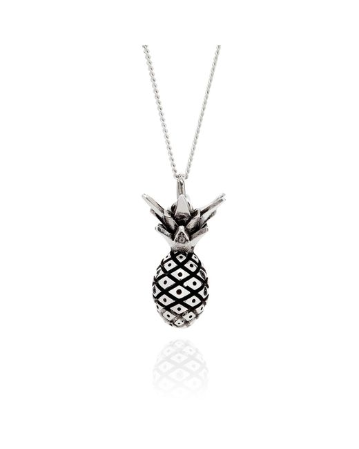 Lee Renee | Metallic Pineapple Necklace Silver | Lyst