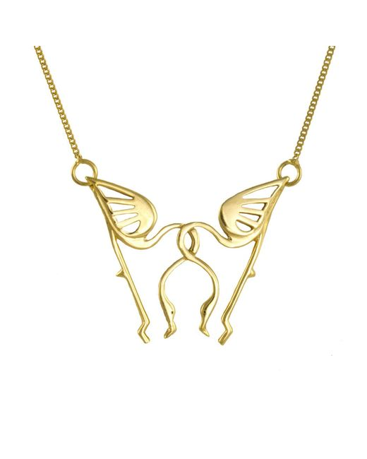 Lee Renee | Metallic Miami Flamingo Necklace | Lyst