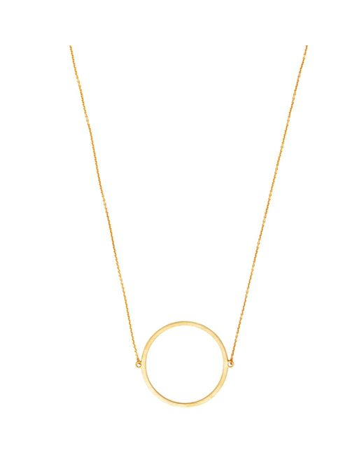 Dutch Basics - Metallic Gold Plated Silver Circle Necklace - Lyst