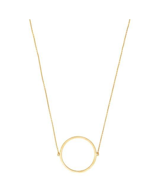 Dutch Basics - Metallic Circle Necklace Gold - Lyst