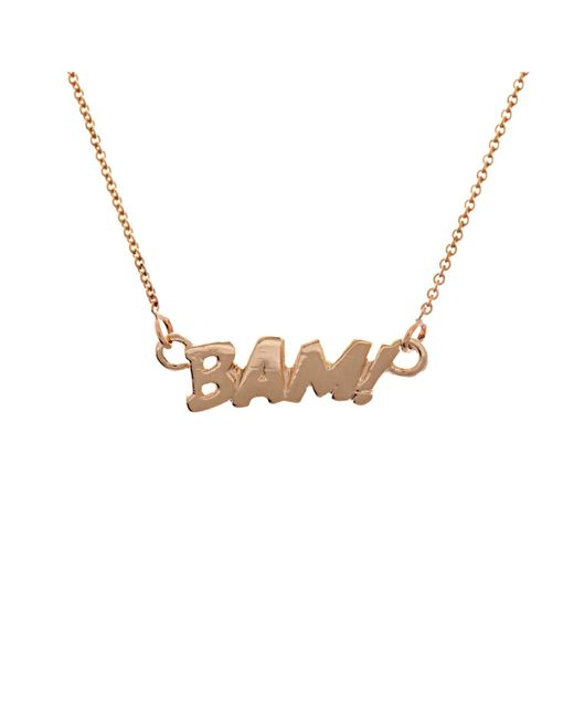 Edge Only | Metallic Bam Necklace In Gold | Lyst