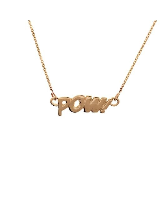 Edge Only | Metallic Pow Necklace In Gold | Lyst