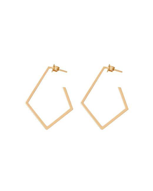 Dutch Basics - Metallic Ruit Creole Earrings Gold - Lyst