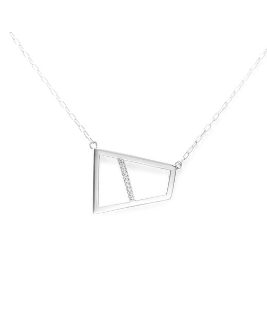 Ona Chan Jewelry | Metallic Double Lattice Necklace With Sapphire Silver | Lyst