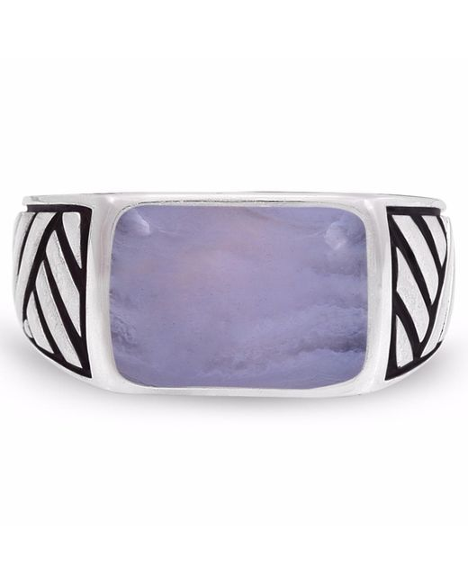 LMJ | Blue Lace Agate Stone Ring | Lyst