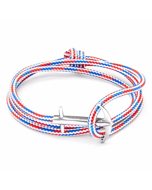 Anchor & Crew | Metallic Silver Staysail Double Sail Chain Bracelet for Men | Lyst