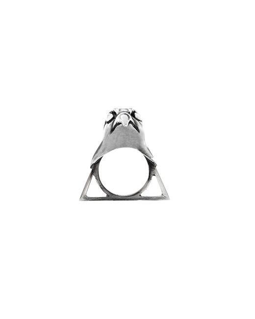 Glenda López - Metallic The Falcon Triangle Ring - Lyst