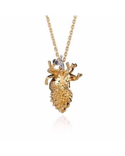 Kasun - Metallic Forbidden Heart – Gold - Lyst