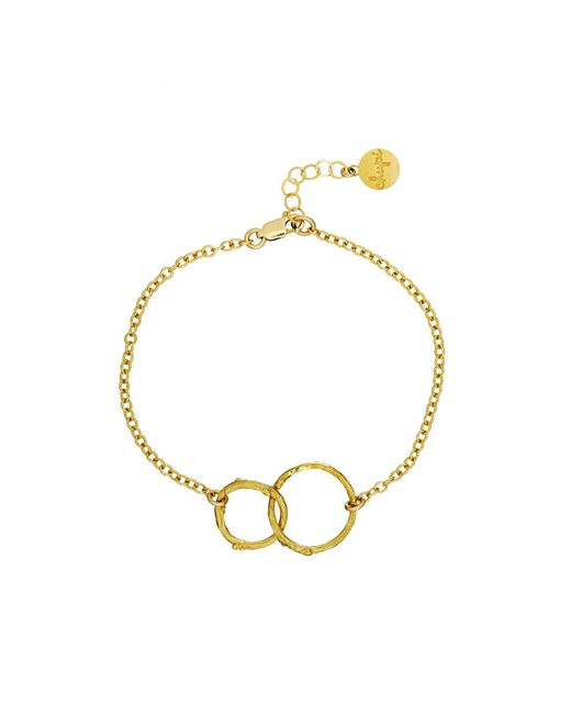 Chupi - Metallic Just The Two Of Us Hawthorn Twig Circle Bracelet In Gold - Lyst