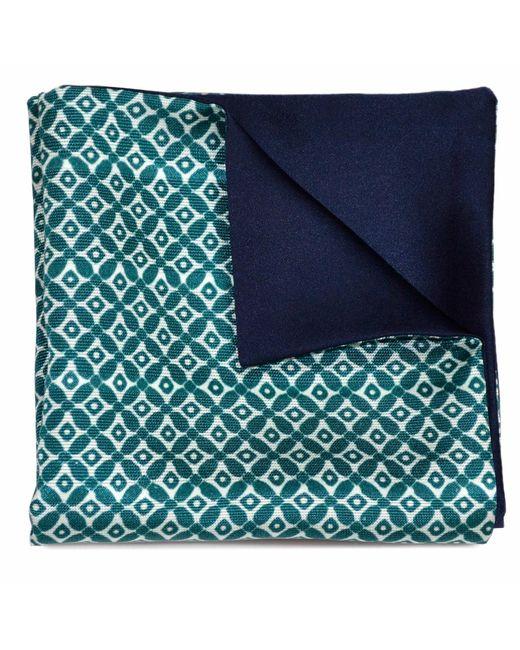 Louise & Zaid   Geometric Green Silk Pocket Square for Men   Lyst