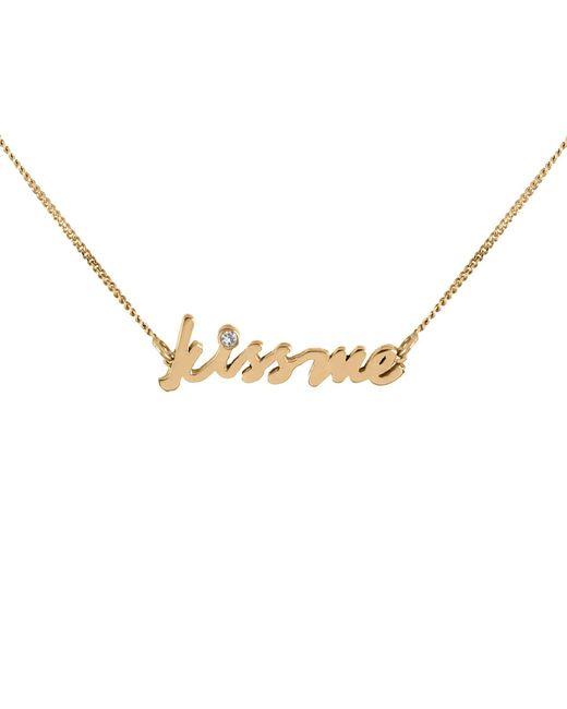 Lee Renee - Metallic Kiss Me Diamond Necklace - Lyst