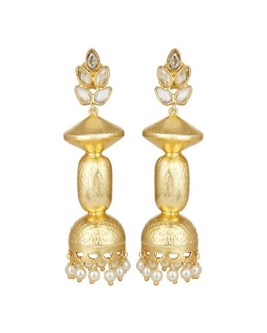 Carousel Jewels - Metallic Traditional Crystal & Pearls Earrings - Lyst