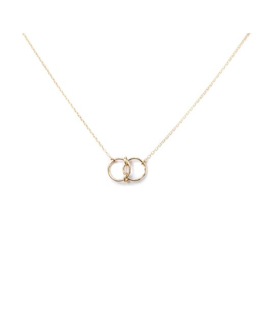 Amundsen Jewellery | Metallic Double Mini Infinity Rings Necklace | Lyst
