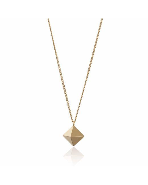 Myia Bonner - Metallic Large Gold Octahedron Necklace - Lyst