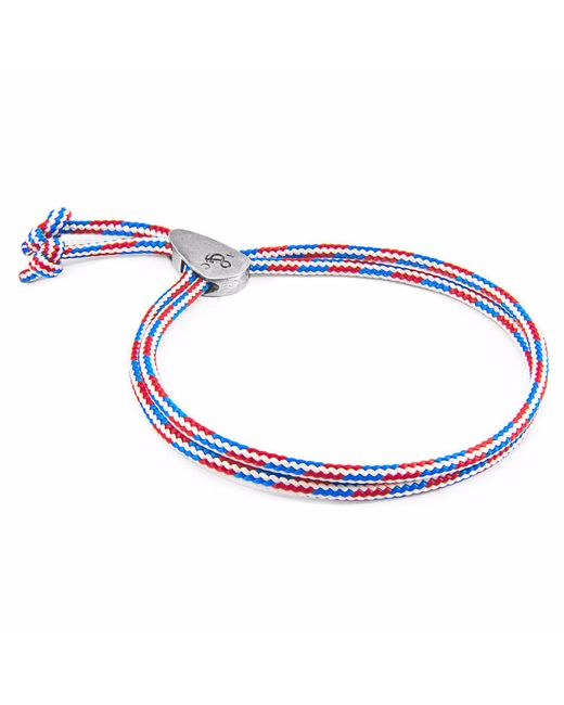 Anchor & Crew   Multicolor Project-rwb Red White & Blue Pembroke Silver And Rope Bracelet for Men   Lyst