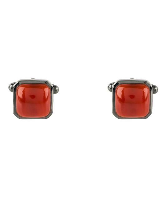 Latelita London - Red Cushion Cufflink Oxidised Carnelian for Men - Lyst