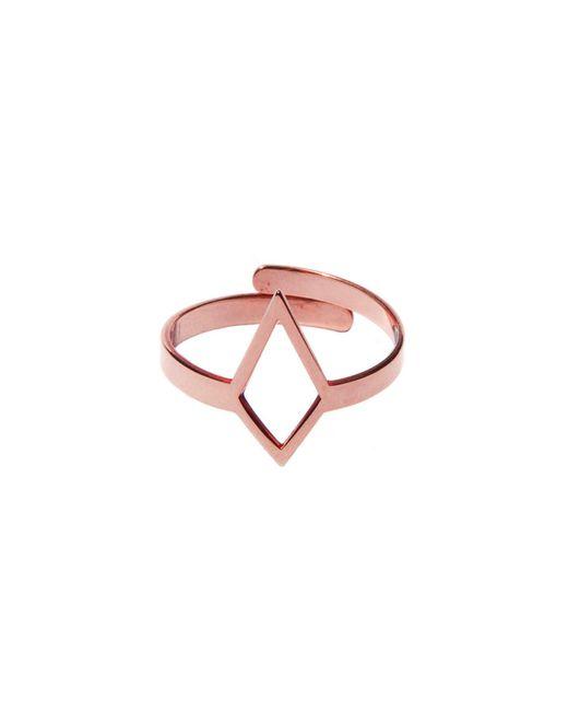 Dutch Basics - Metallic Ruit Adjustable Knuckle Ring Small Rose Gold - Lyst