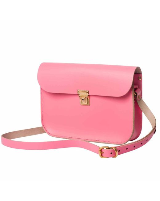 N'damus London | Pink Leather 11 Inches Mini Satchel | Lyst