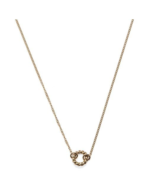 Isabel Lennse - Metallic Xs Twisted Circle Gold Necklace - Lyst