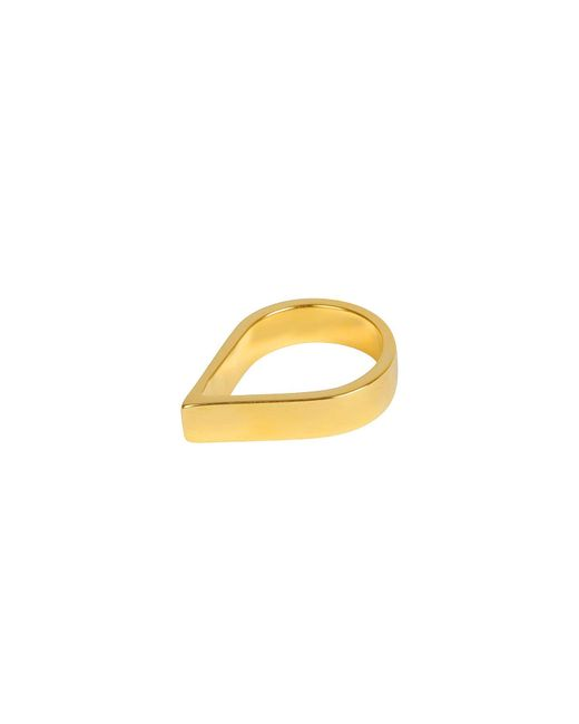Matthew Calvin - Metallic Wide Point Ring Gold - Lyst