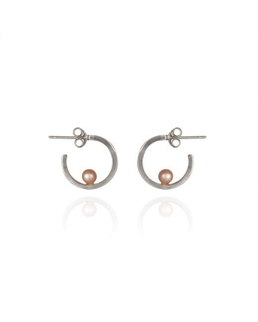 Cara Tonkin | Metallic Orbit Hoop Earrings Silver | Lyst