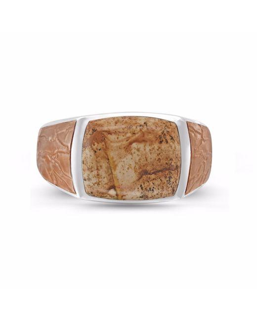 LMJ - Light Brown Picasso Jasper Stone Ring - Lyst