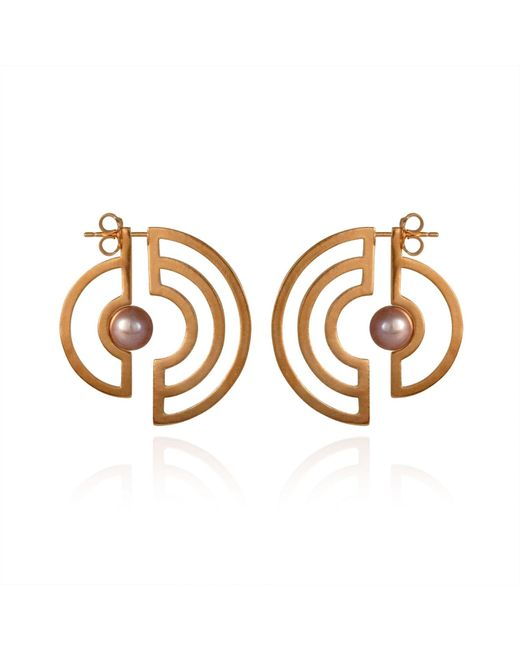 Cara Tonkin - Metallic Orbit Solaris Earrings Rose Gold - Lyst