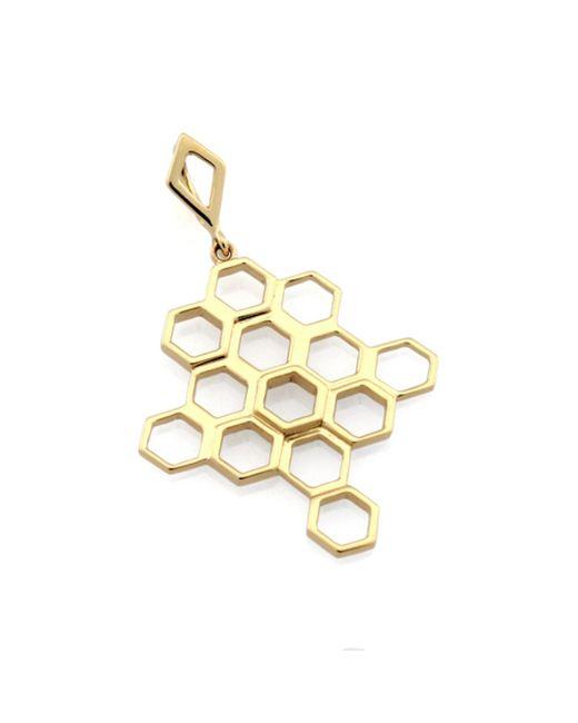 Monarc Jewellery | Metallic The Vita Hive Necklace 9ct Gold | Lyst