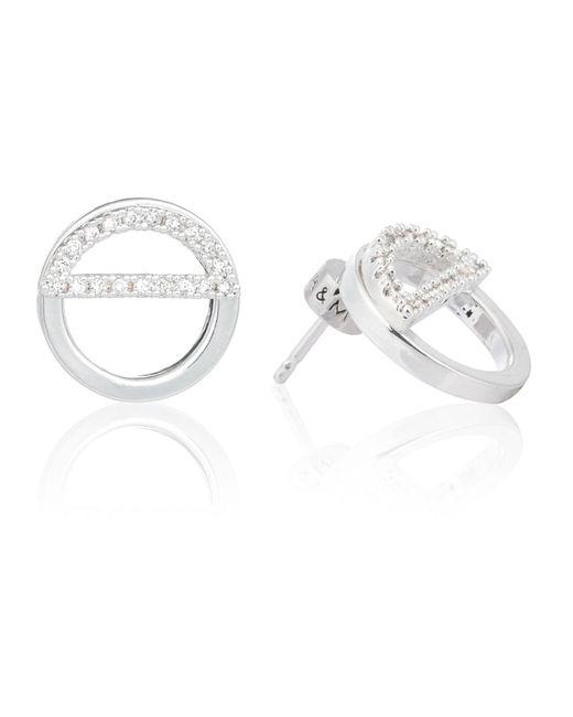 Astrid & Miyu | Metallic Half Circle Ear Jacket In Silver | Lyst