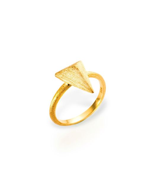 Ona Chan Jewelry | Metallic Triangle Ring Gold | Lyst