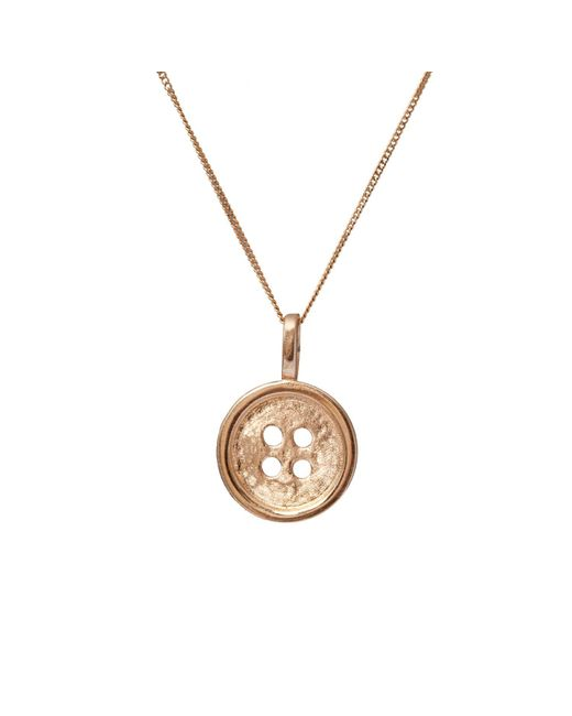 Edge Only - Metallic Gold Button Pendant - Lyst