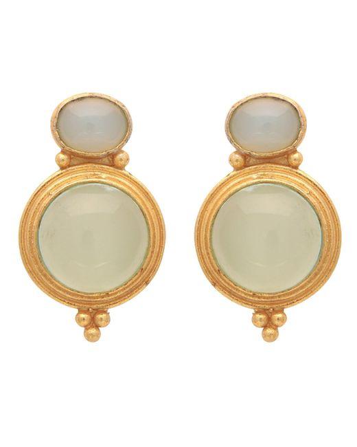 Carousel Jewels - Metallic Gold & Chalcedony Curio Earrings - Lyst