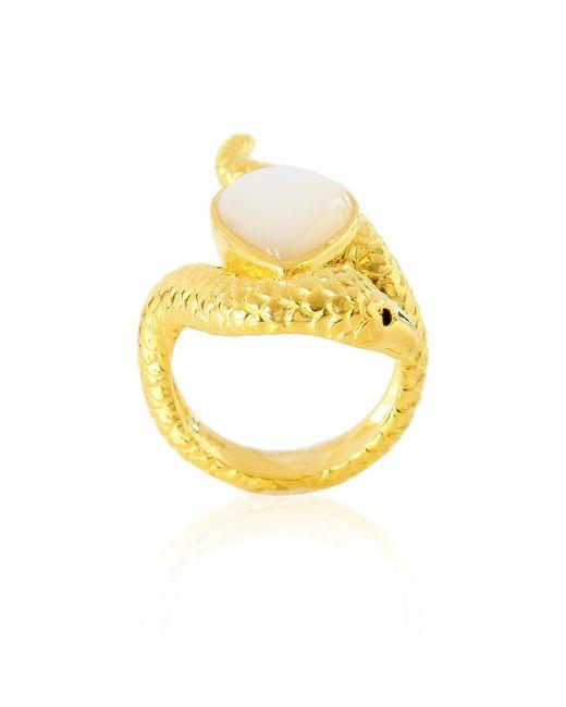 Alexandra Alberta | Metallic Arizona Pearl Ring | Lyst