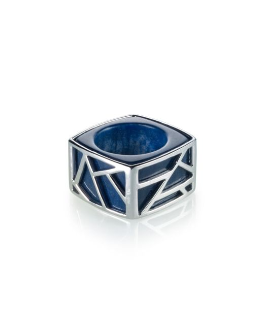 Ona Chan Jewelry | Square Cocktail Ring Blue Quartz | Lyst