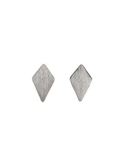 Dutch Basics - Gray Ruit Stud Earrings Oxidized Silver - Lyst