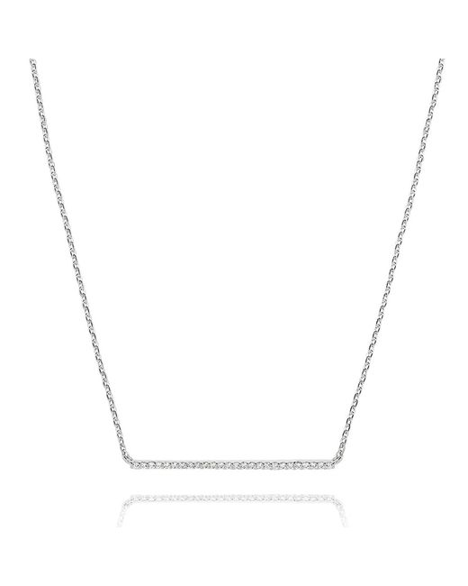 Astrid & Miyu | Metallic Walk The Line Big Bar Necklace In Silver | Lyst